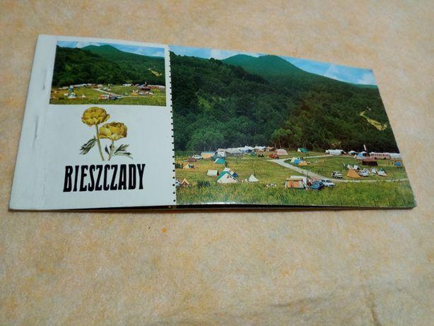 Kartki pocztowe 6 szt, pocztówki PRL, Bieszczady