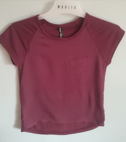Bordowa bluzka 2XS