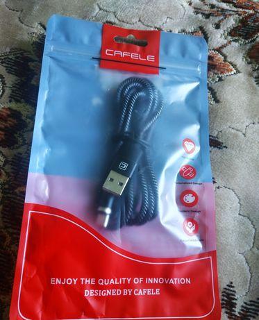Магнітний кабель Cafele  type-c тайпСі швидка зарядка 3А