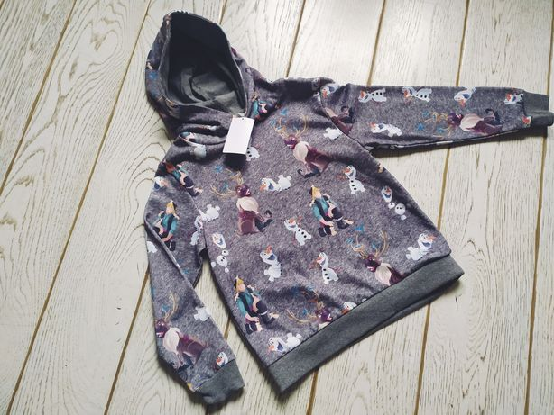 Nowa bluza H&M 122 128 Kraina Lodu Frozen Disney z kapturem