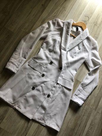 Плаття піджак білого кольру