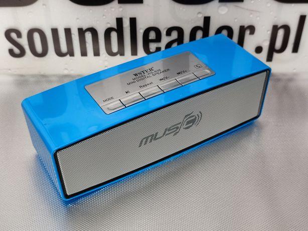 Głośnik bluetooth radio odtwarzacz MP3 zestaw głośnomówiący niebieski