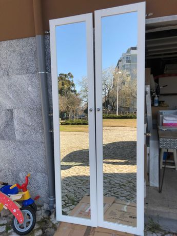 Portas de roupeiro (2x) com espelho (PAX-Ikea)