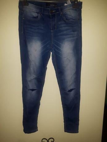 Spodnie rurki jeansy jeans 2 pary 38M stradivarius zamki tally weijl