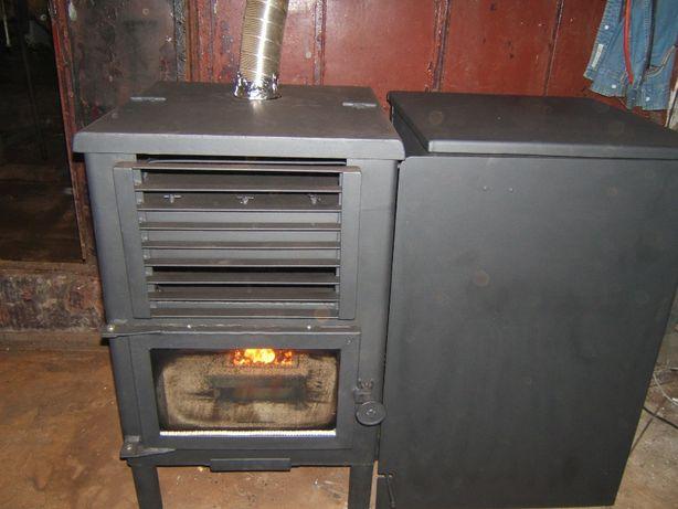 Salamandra/ recuperador de calor a caroço de azeitona ou biomassa