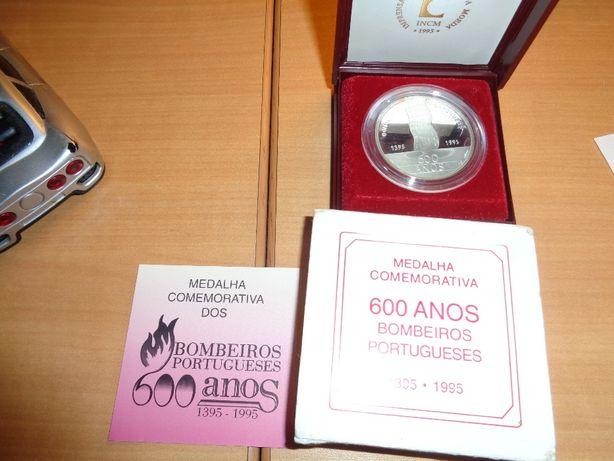 Medalha Bombeiros Portugueses Prata 600 Anos