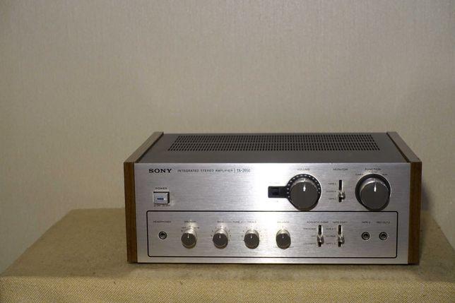 Музыкальный HI-FI усилитель 70-х SONY TA-2650 (тр-ры МЕТАЛЛ)(ЗВУК!)