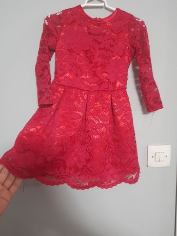 Sukienka koronkowa 92-98