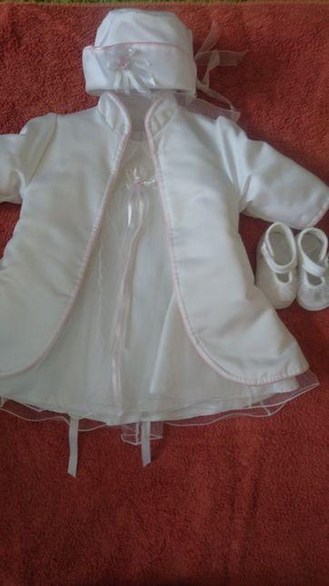 Eleganckie ubranko do chrztu rozmiar 74