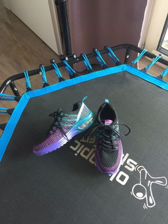 Buty sportowe czarno niebiesko fioletowe 37