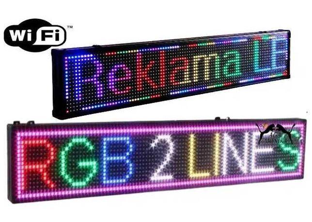Reklama Tablica WiFi Świetlna 5 Kolorów LED 100x20x5 cm