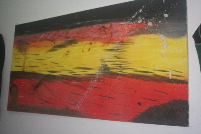 Quadro oleo pintado anos 90s