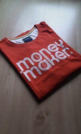 T-shirt czerwona koszulka Reserved MONEY MAKER, rozmiar: L