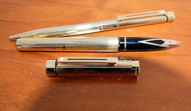 Scheaffer - conjunto de caneta e esferográfica em ouro
