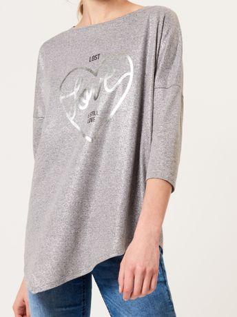 Szara asymetryczna bluzka mohito rozmiar L/XL