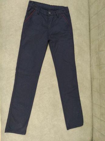 Брюки школьные, темно синий цвет, 152 см