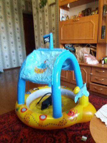 Детский бассейн круг замок