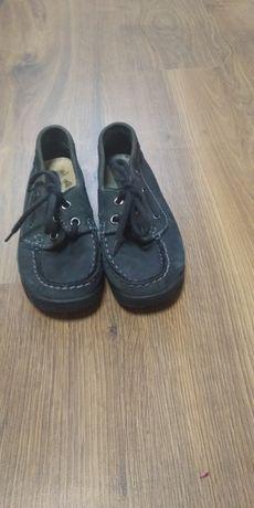 Туфли нубук тёмно-синие