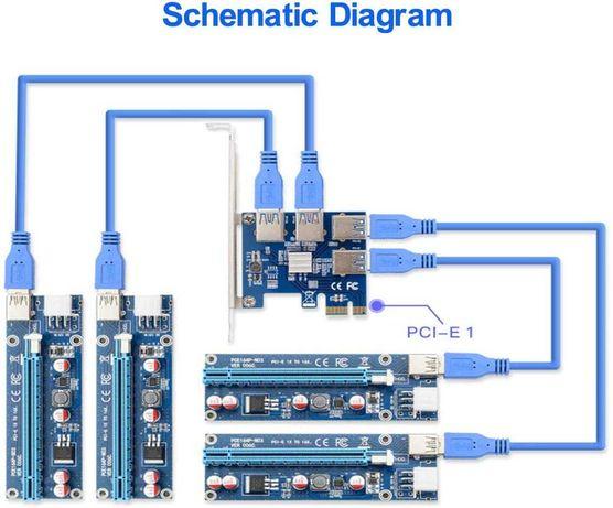 Mining extensão riser PCI-E USB 3.0 - material novo