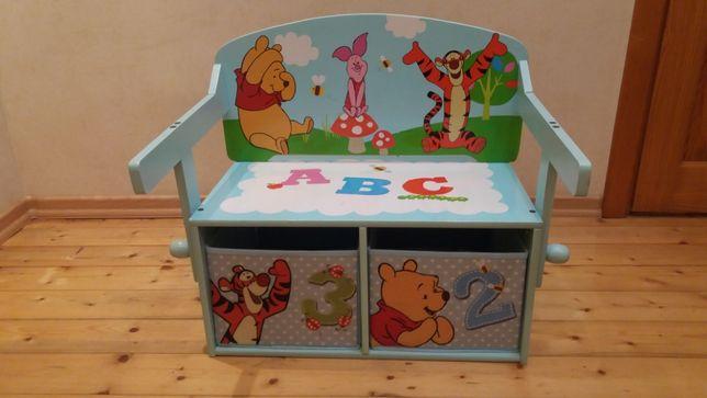 Продам комод скамейка столик 3 в 1 Винни Пух Delta Children. Новый.