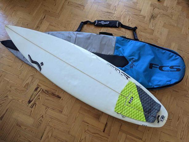 """Prancha Surf Semente 6'0"""" + Scarfini CarbonBase HX4 + Saco FCS"""