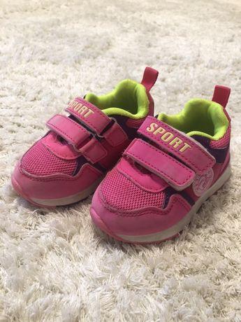 Кожанные кроссовки для девочки