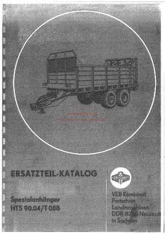 Katalog części Rozrzutnik obornika Forschritt T088