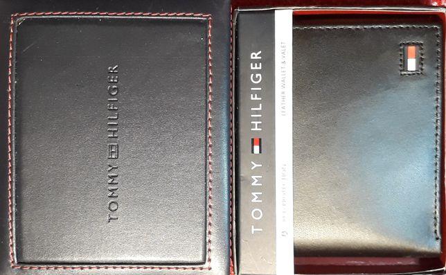 TOMMY HILFIGER Meski Portfel RFID Tech Skorzany Oryginalny +Pudelko