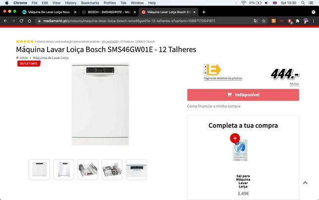 Máquina de lavar loiça BOSCH Semi nova e com GARANTIA