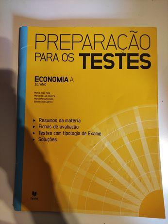 Caderno de preparação para testes Economia A 10° ano