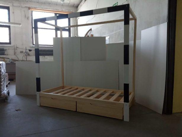 Łóżko bramka 100% drewno. Wysyłka w 24H 180x80 i 200x90