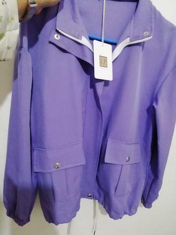Blusão/parka lilás novo