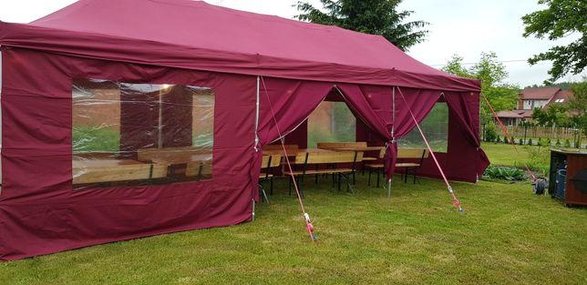Wynajem namiotu imprezowego wym. 3x9 / 6x9 wraz z ławkami !!