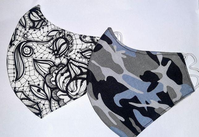 Maski profilowane bawełniane dwuwarstwowe