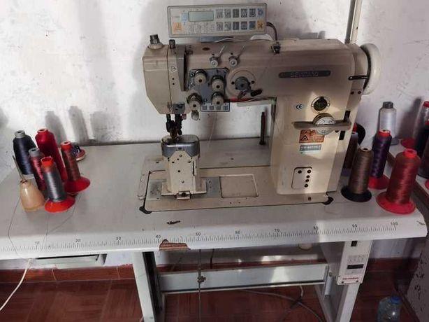 Máquina de gaspear de duas agulhas