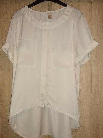 HM biała bluzka bluzeczka t-shirt 34