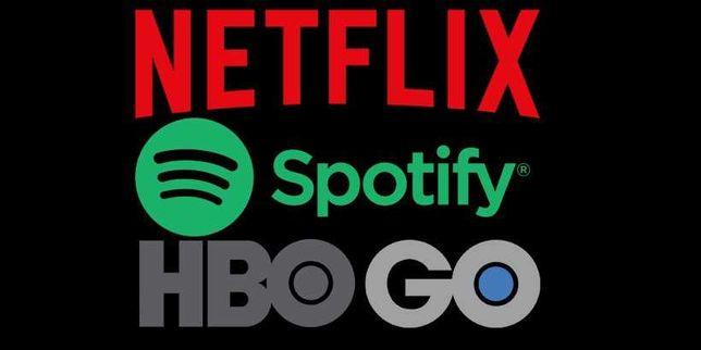 HBO GO • Netflix • Spotify • Tidal • Xbox Live • Ipla TV • CDA