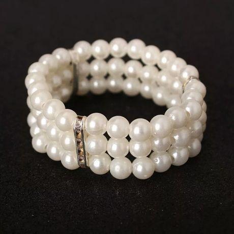 Bransoletka z perłami perełkami nowa