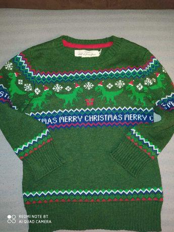 Sweter H&M 2-4 lata 98-104 cm Świąteczny Merry Christmas