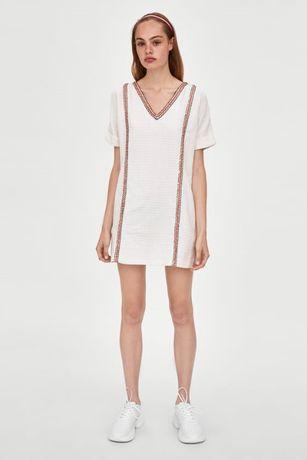 Nowa sukienka biała ZARA L - TRF Collection