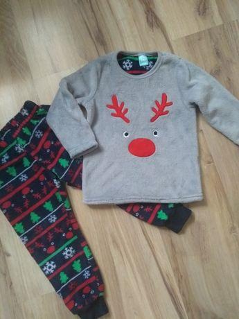 Nowy zestaw świąteczny, dres ciepły polar