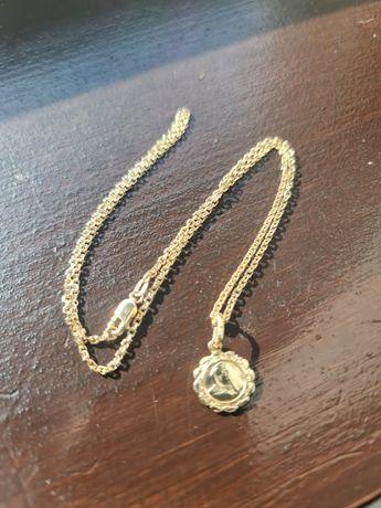 Złoty łańcuszek z medalikiem 585