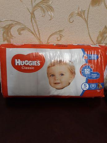Подгузники huggies classic 5, 58 шт.
