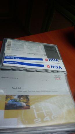 Audi a3, książka serwisowa auta, po niemiecku,
