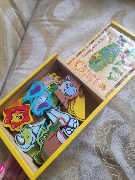 Пазлы магнитные, развивающая игра от 2х лет