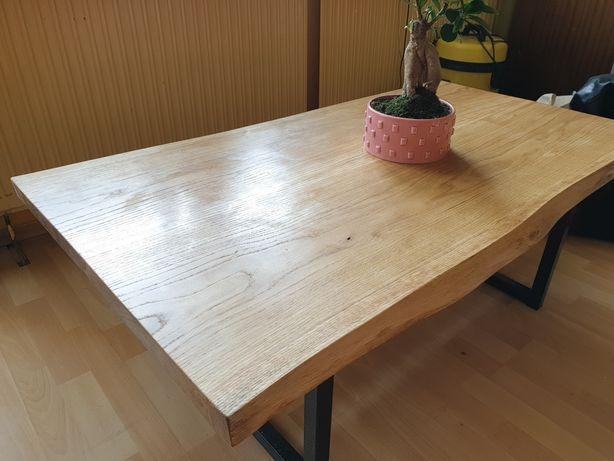Dębowy stolik kawowy/ LOFT/ Industrialny