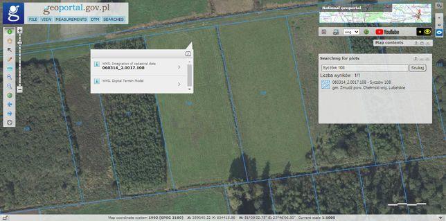Sprzedam ziemia rolna Łąka 0,72 ha OKAZJA TANIO !!!