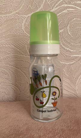Стеклянная бутылочка Canpol babies 3м+