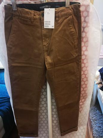 Spodnie H&m chinosy roz. 146