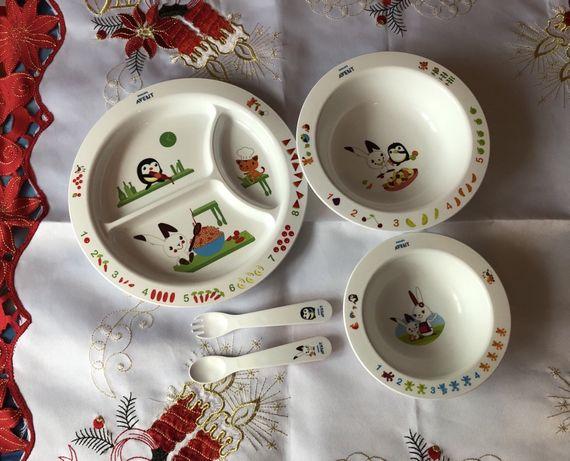 Набор посуды Philips Avent ( тарелочки, вилочка, ложечка) 6+ месяцев